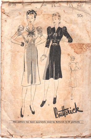 Butterick 8198 A