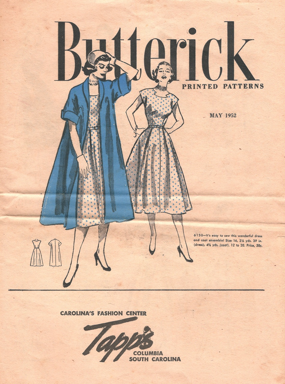 Butterick Printed Patterns May 1952