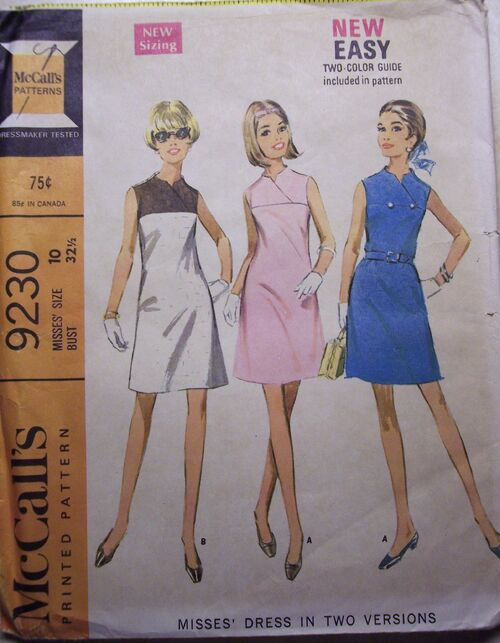 Misses' Dress in Two Versions ©1968
