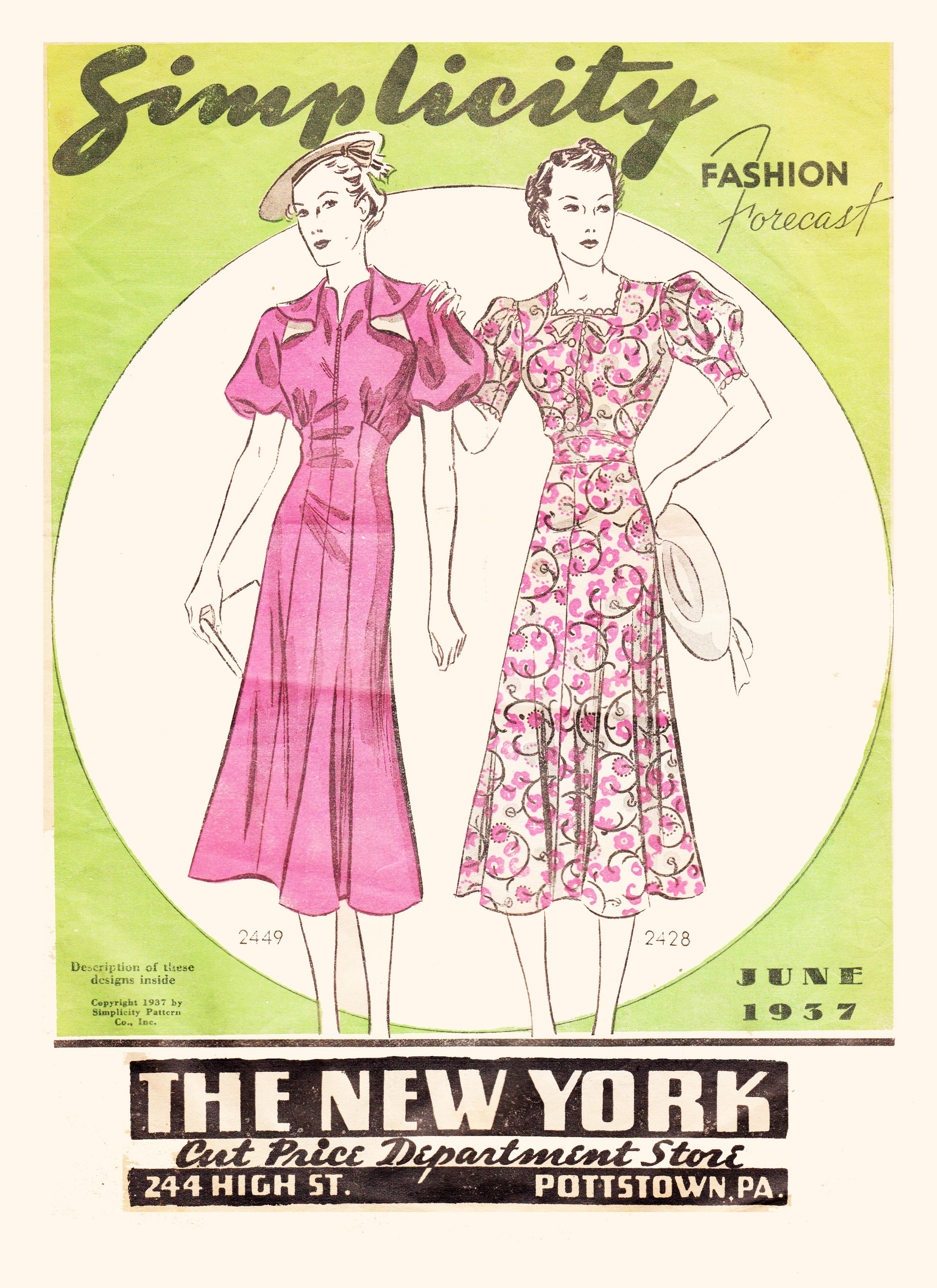 Simplicity Fashion Forecast June 1937