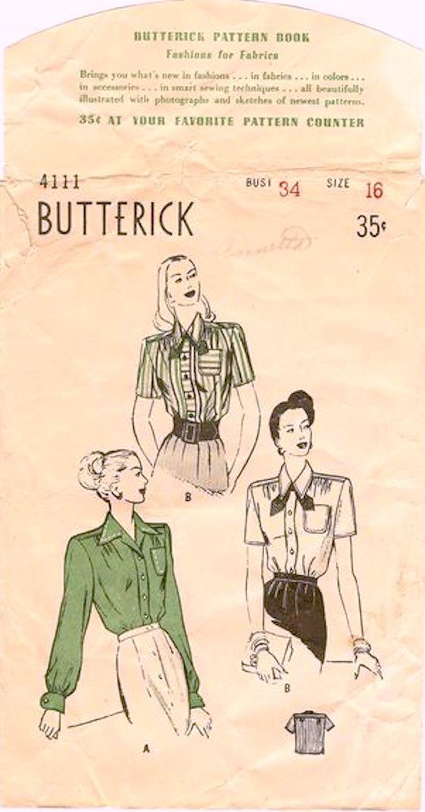 Butterick 4111 A