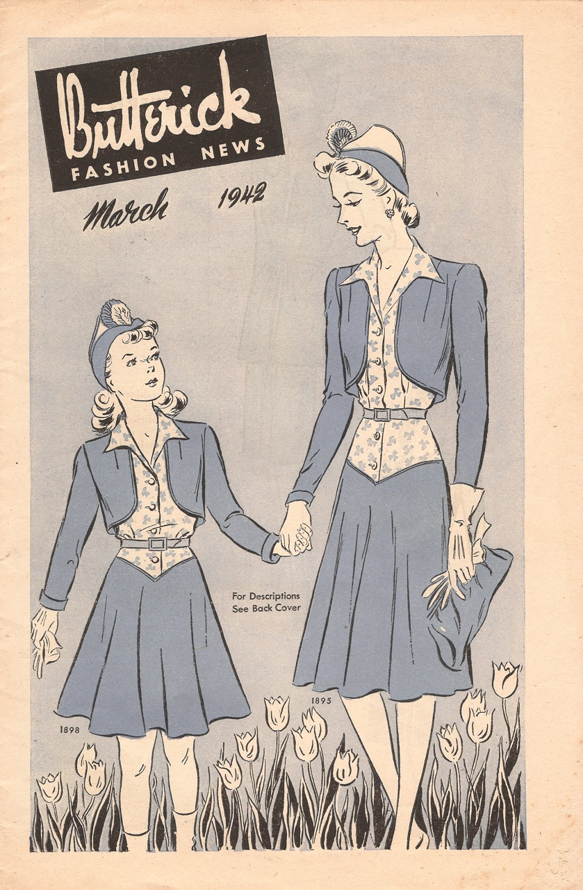 Butterick Fashion News March 1942