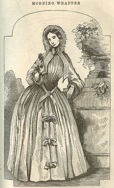 Godey's Lady's Book: Morning Wrapper, October 1855