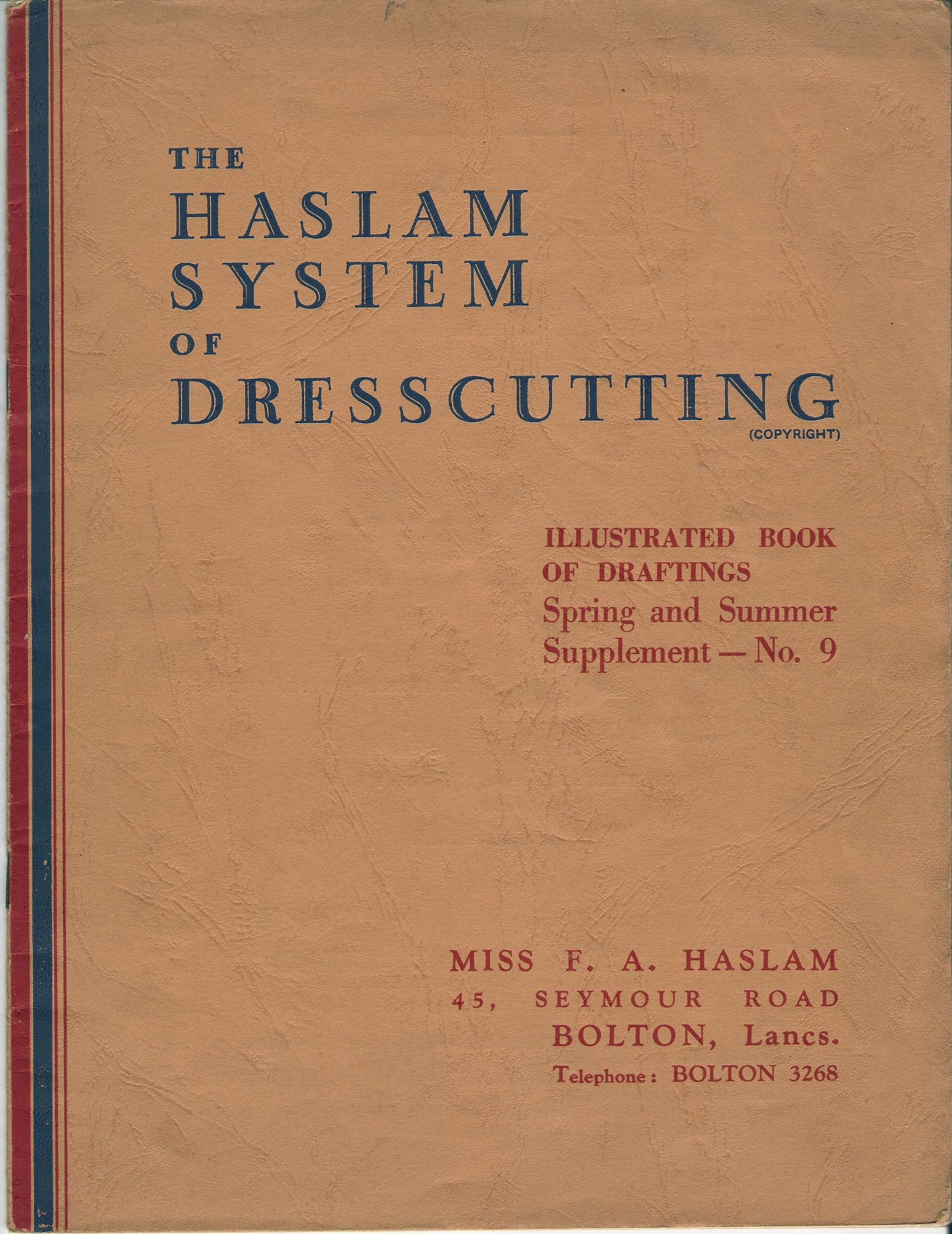 Haslam System of Dresscutting Spring and Summer Supplement No. 9