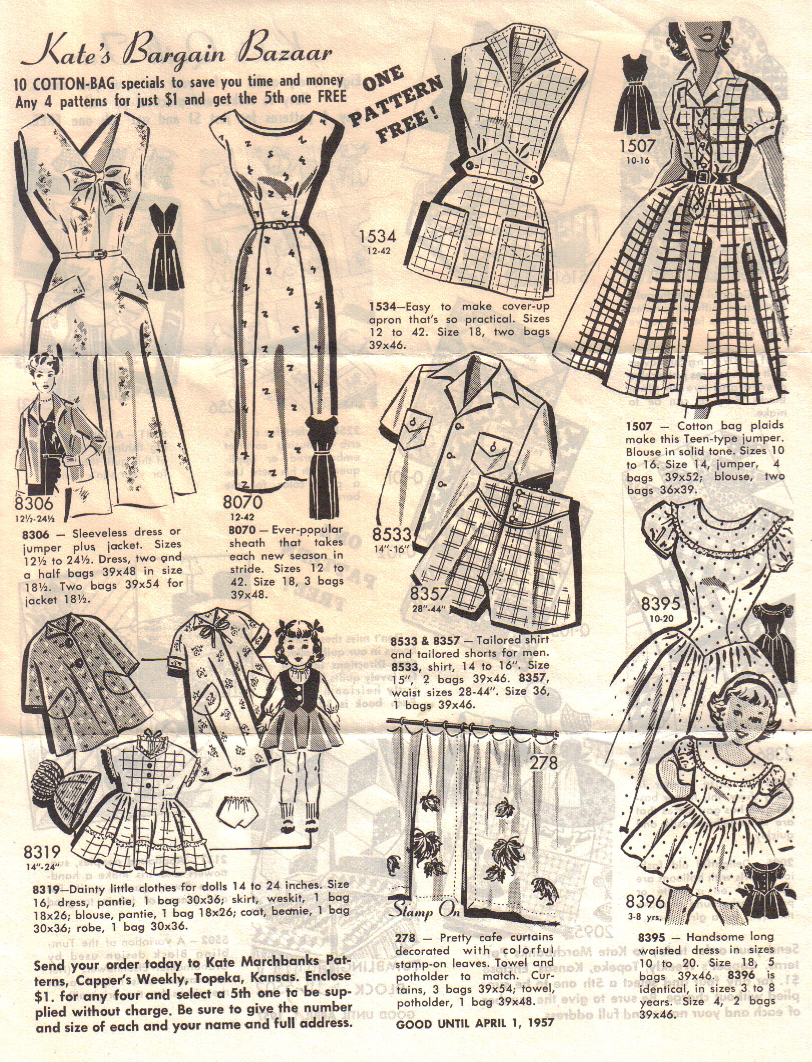 Kate Marchbanks Mail Order Ad 1956