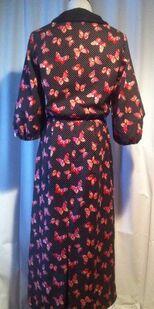 Butterick 5764 1930s day dress3 back