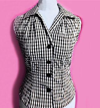 1950s Blouse chk pink