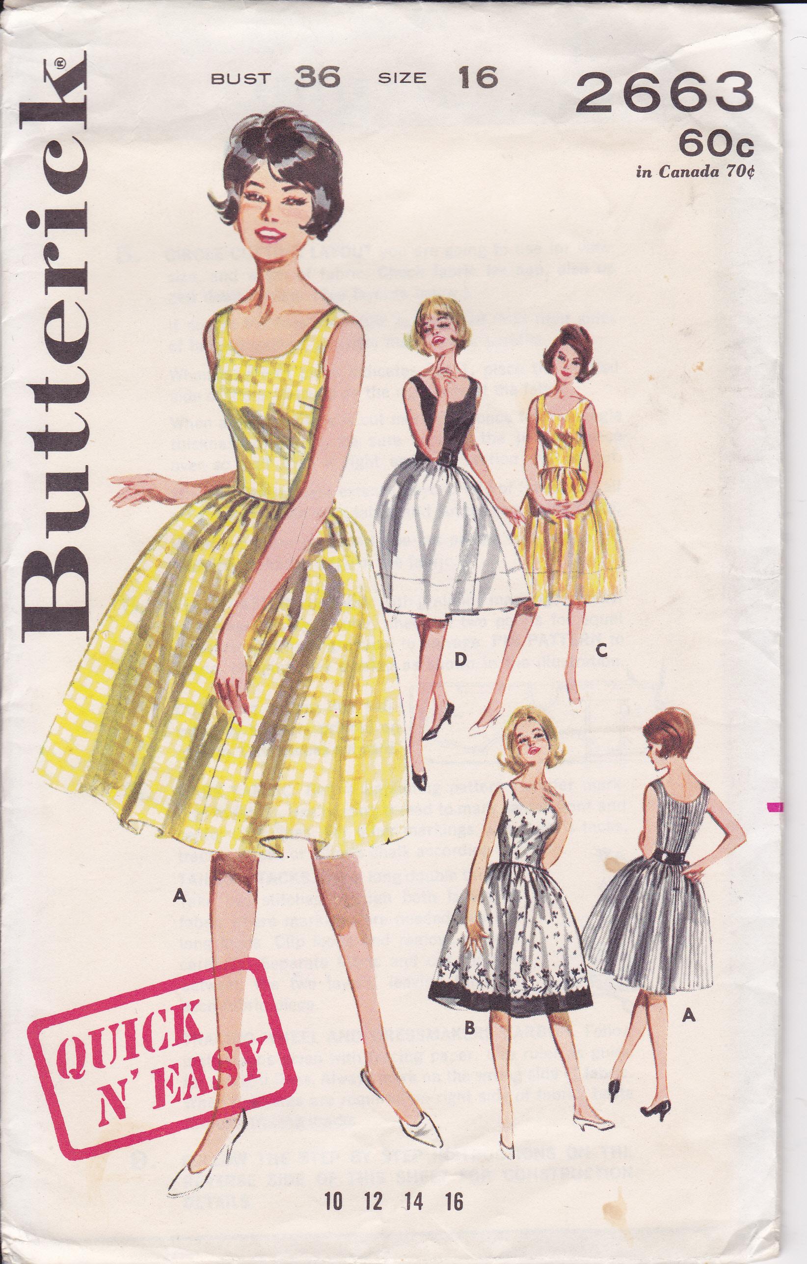 Butterick 2663