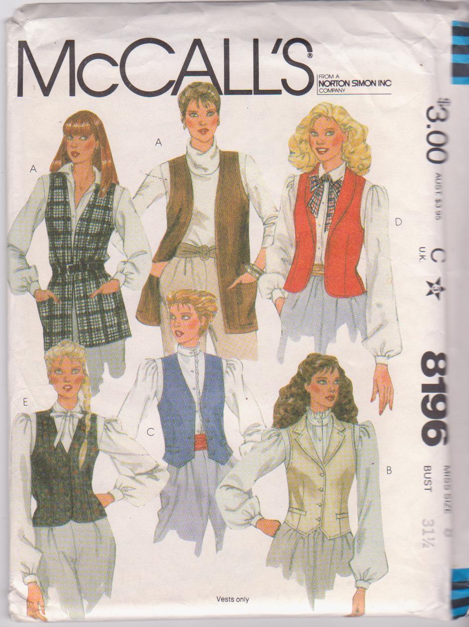 McCall's 8196 A