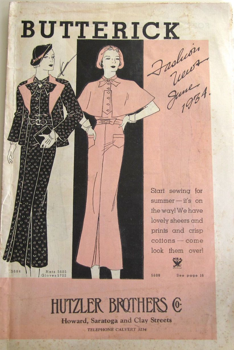 Butterick Fashion News June 1934