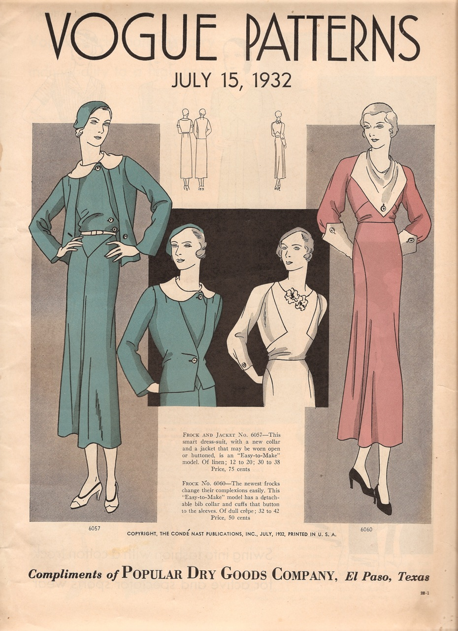 Vogue Patterns July 1932