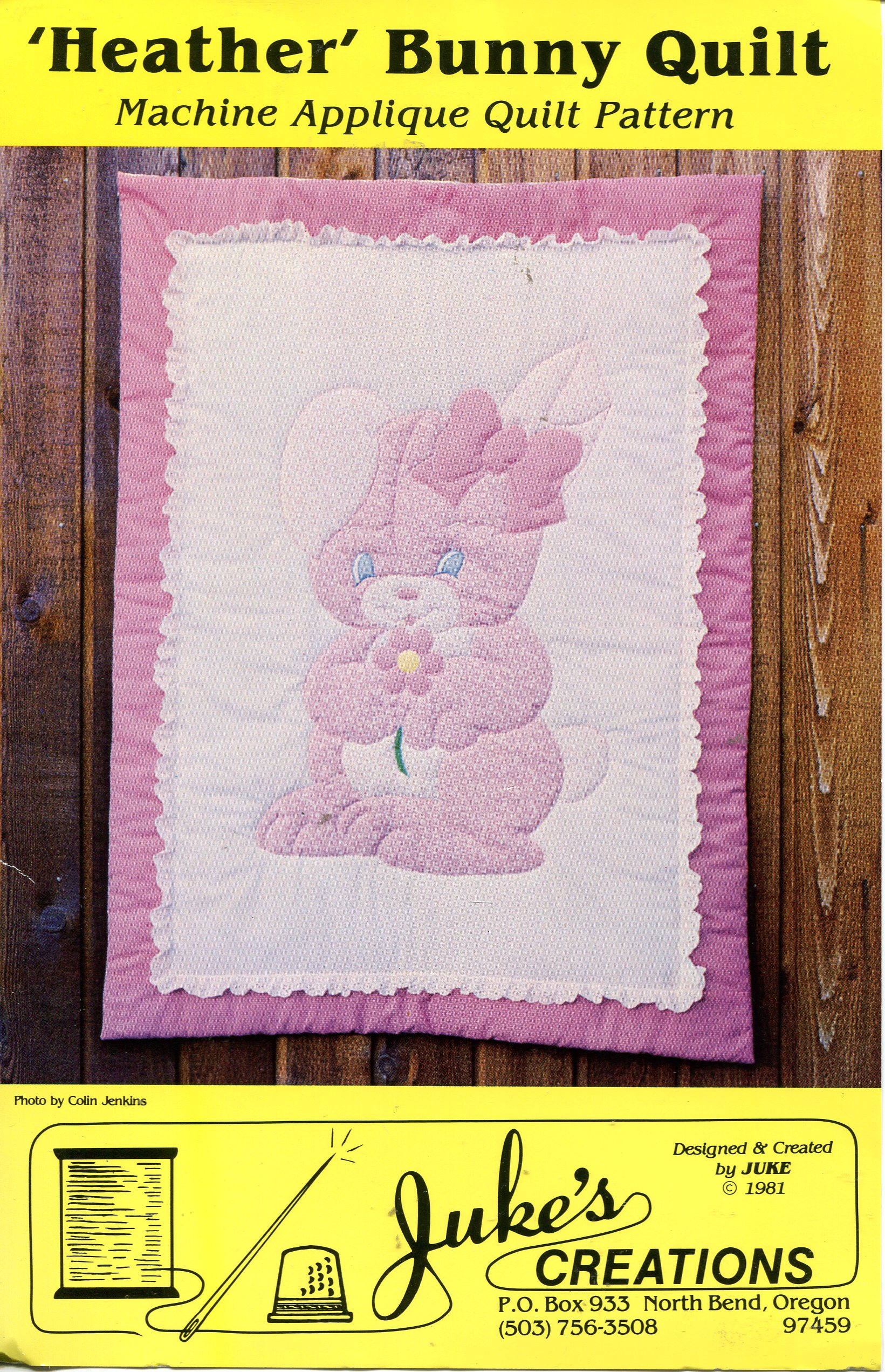 Juke's Creations Heather Bunny Quilt