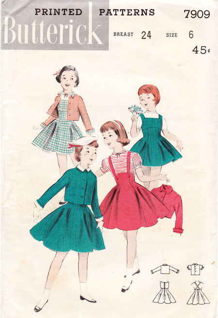 Butterick 7909. Circa 1950's.