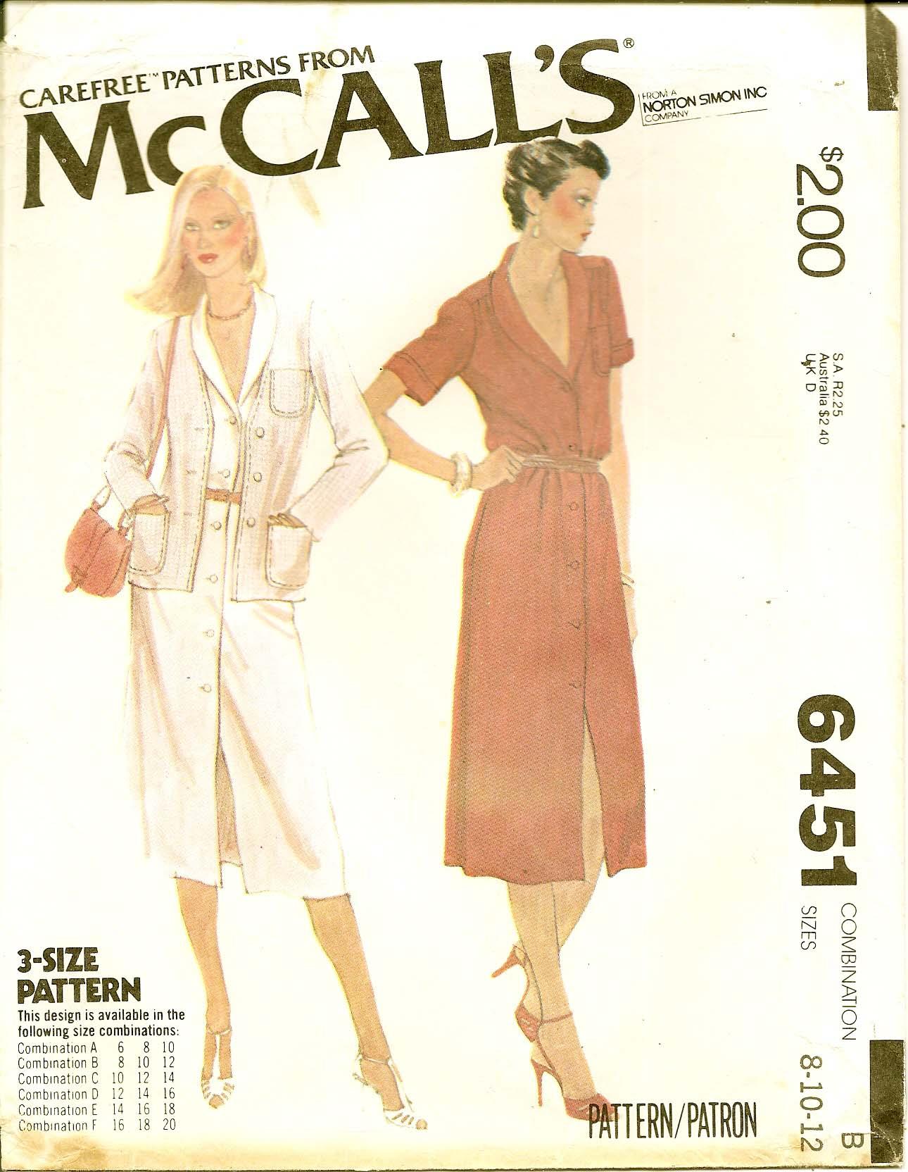 McCall's 6451