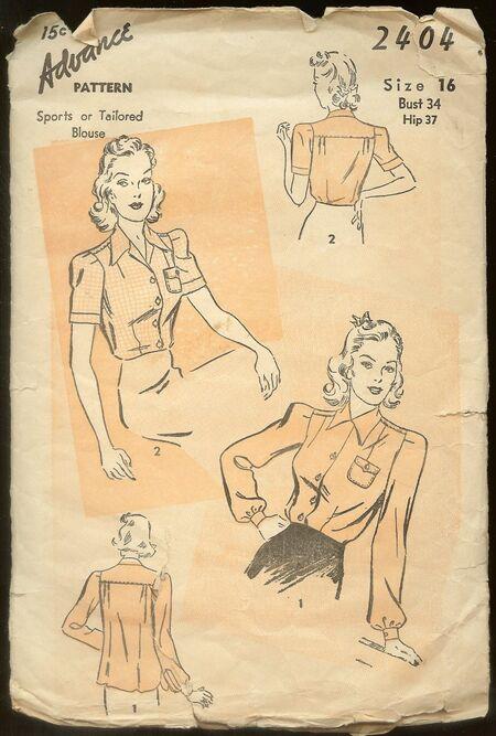1940's Advance Pattern #2404