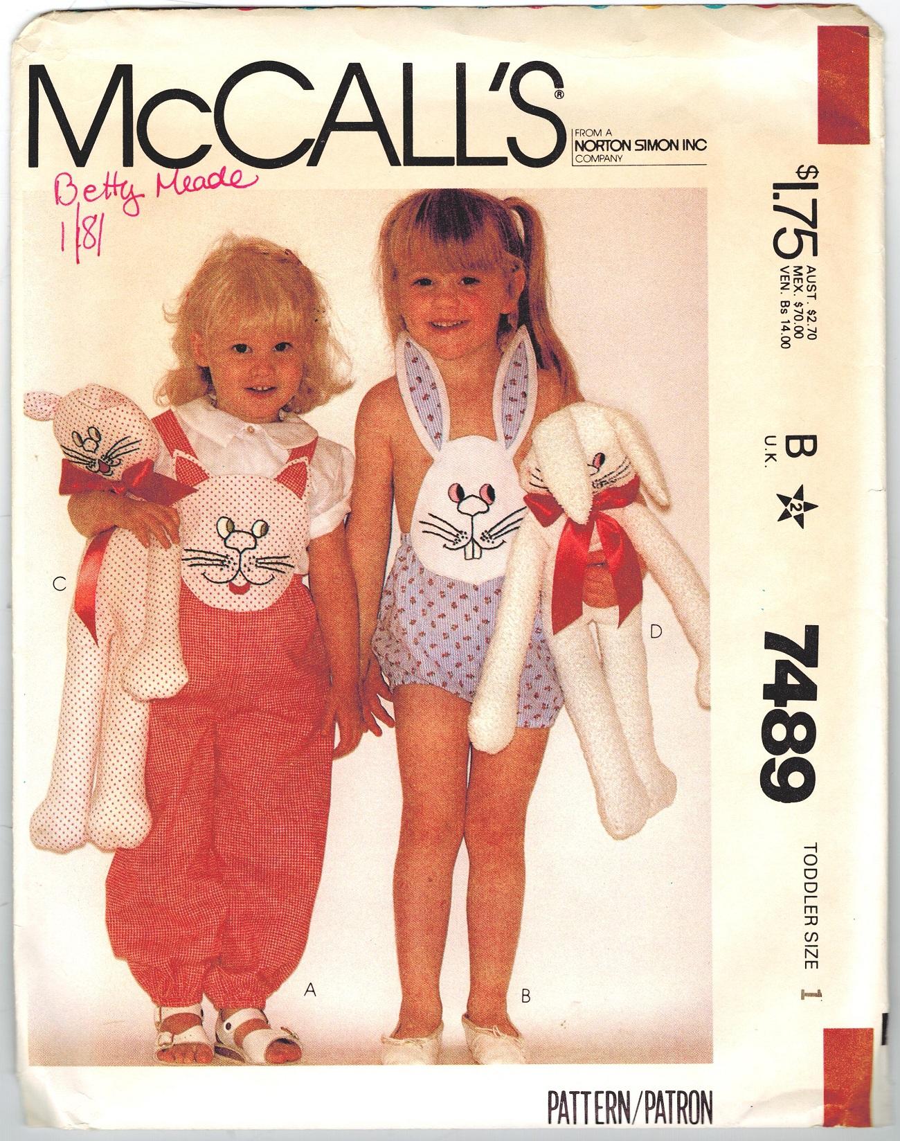 McCall's 7489 A