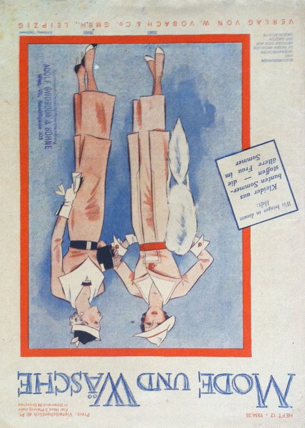 Mode und Wäsche No. 12 1934/35