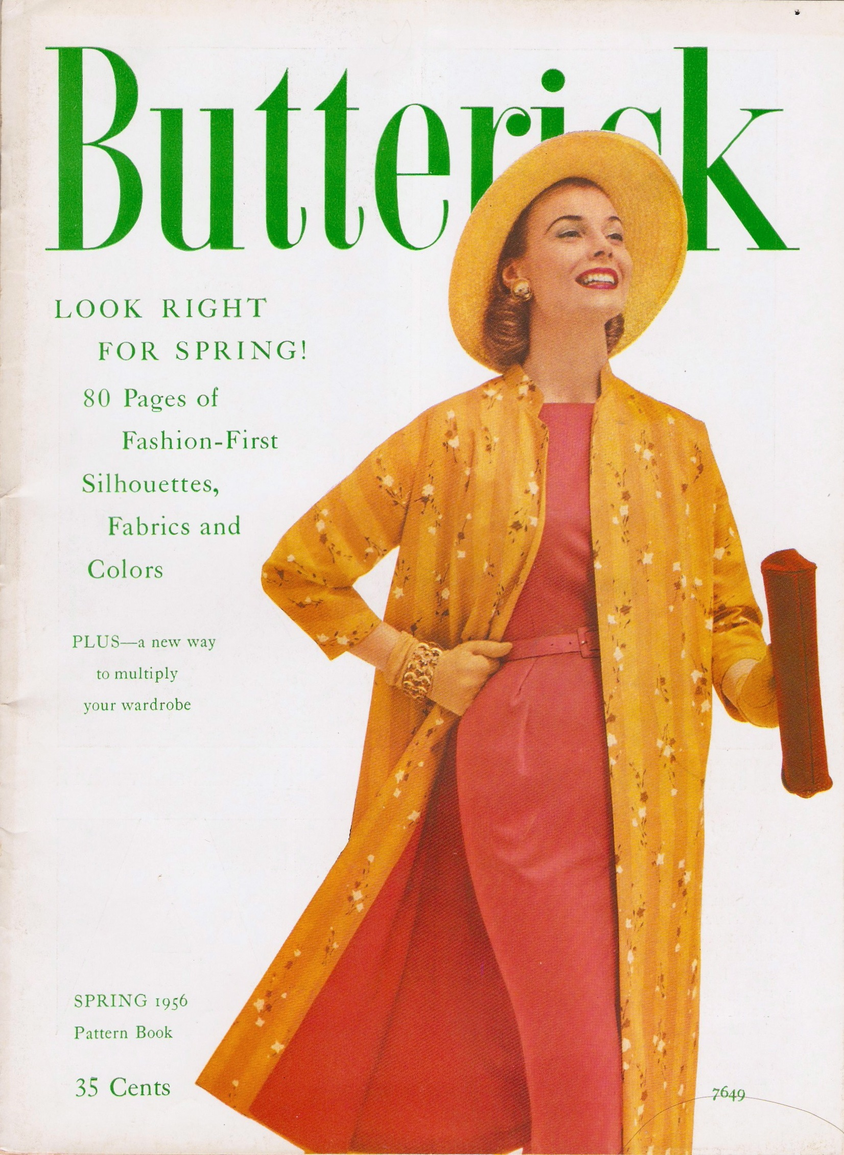 Butterick Pattern Book Spring 1956