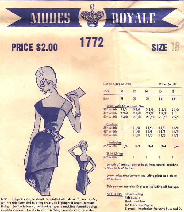 Modes Royale 1772