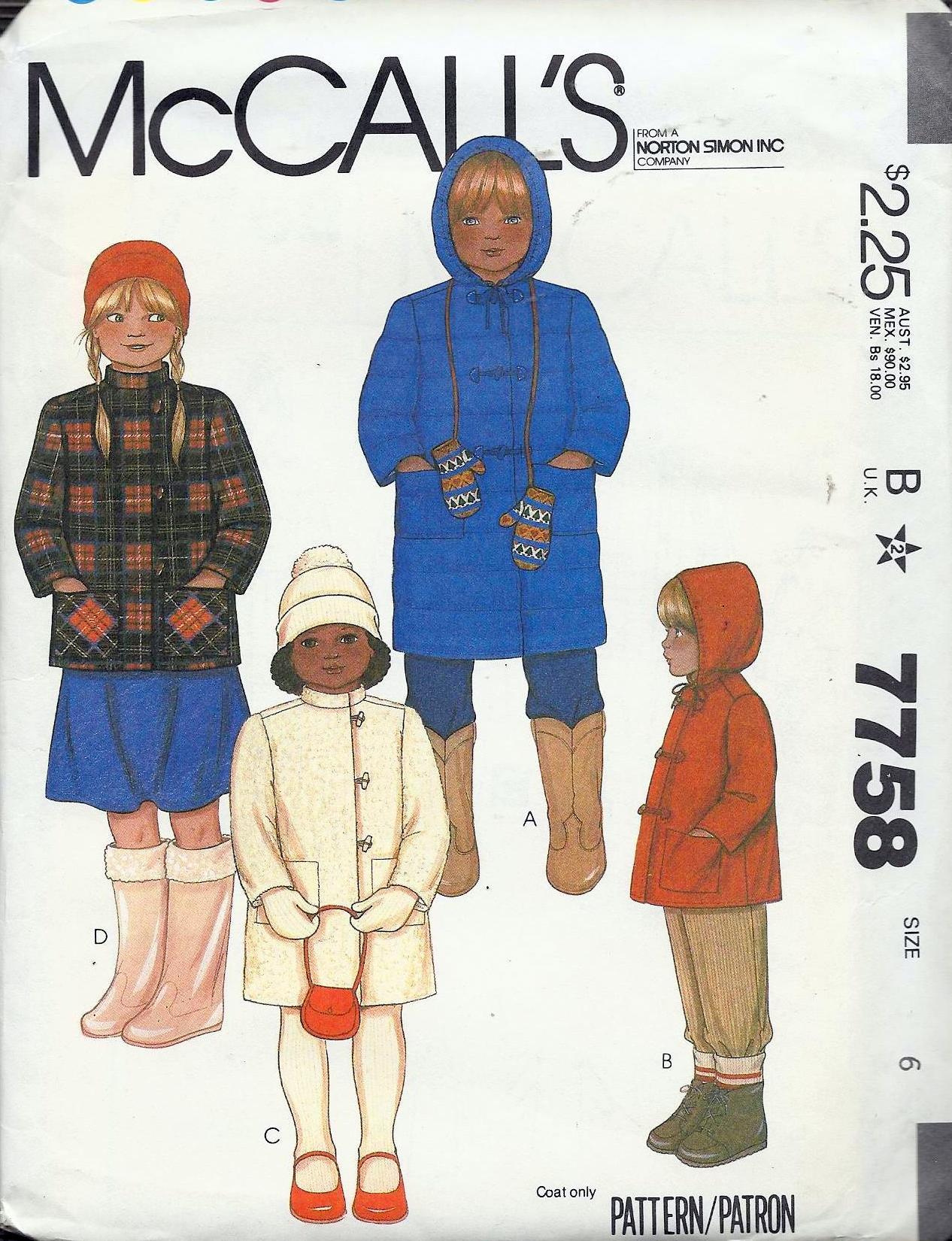 McCall's 7758 A