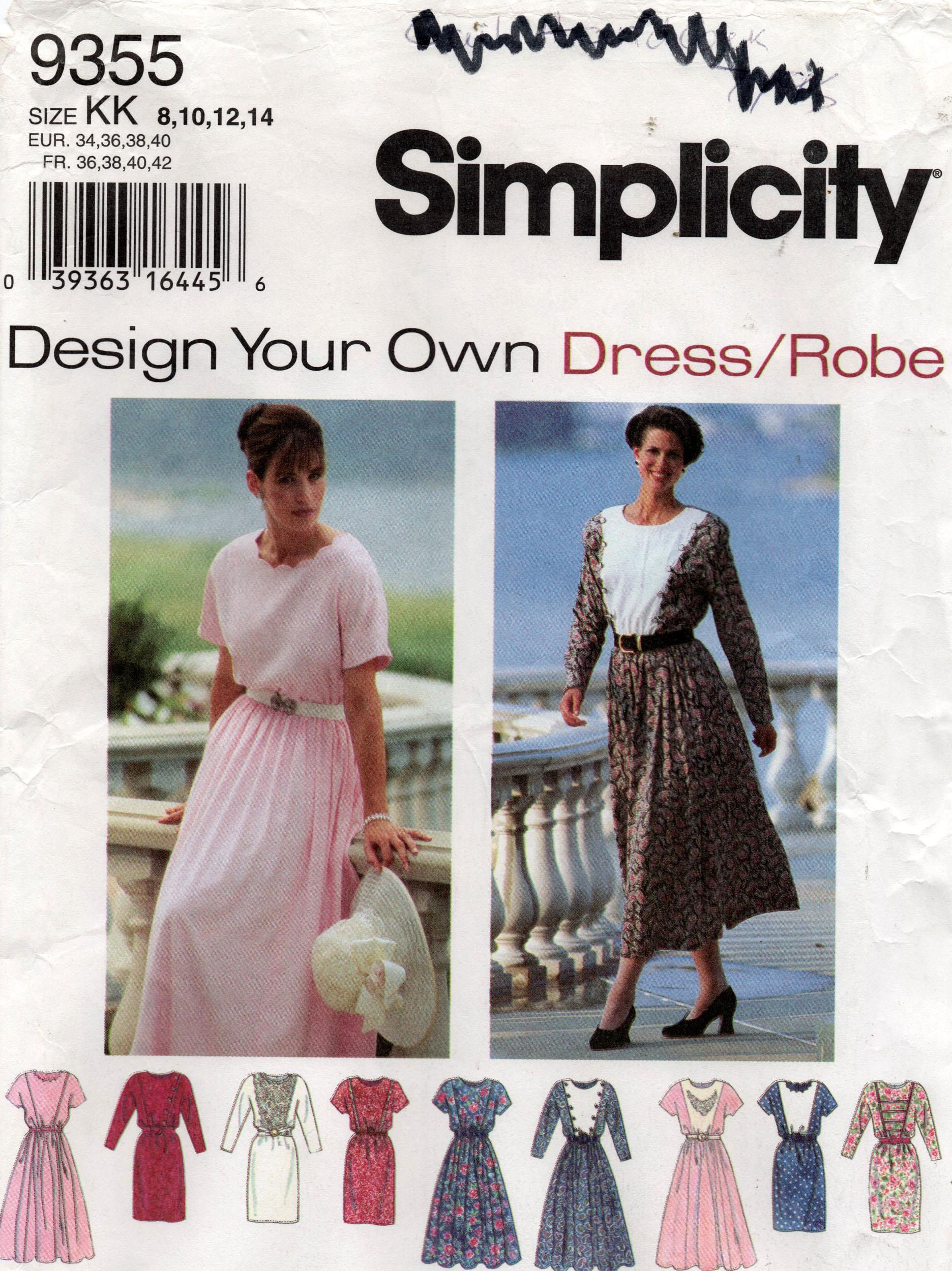 Simplicity 9355 B