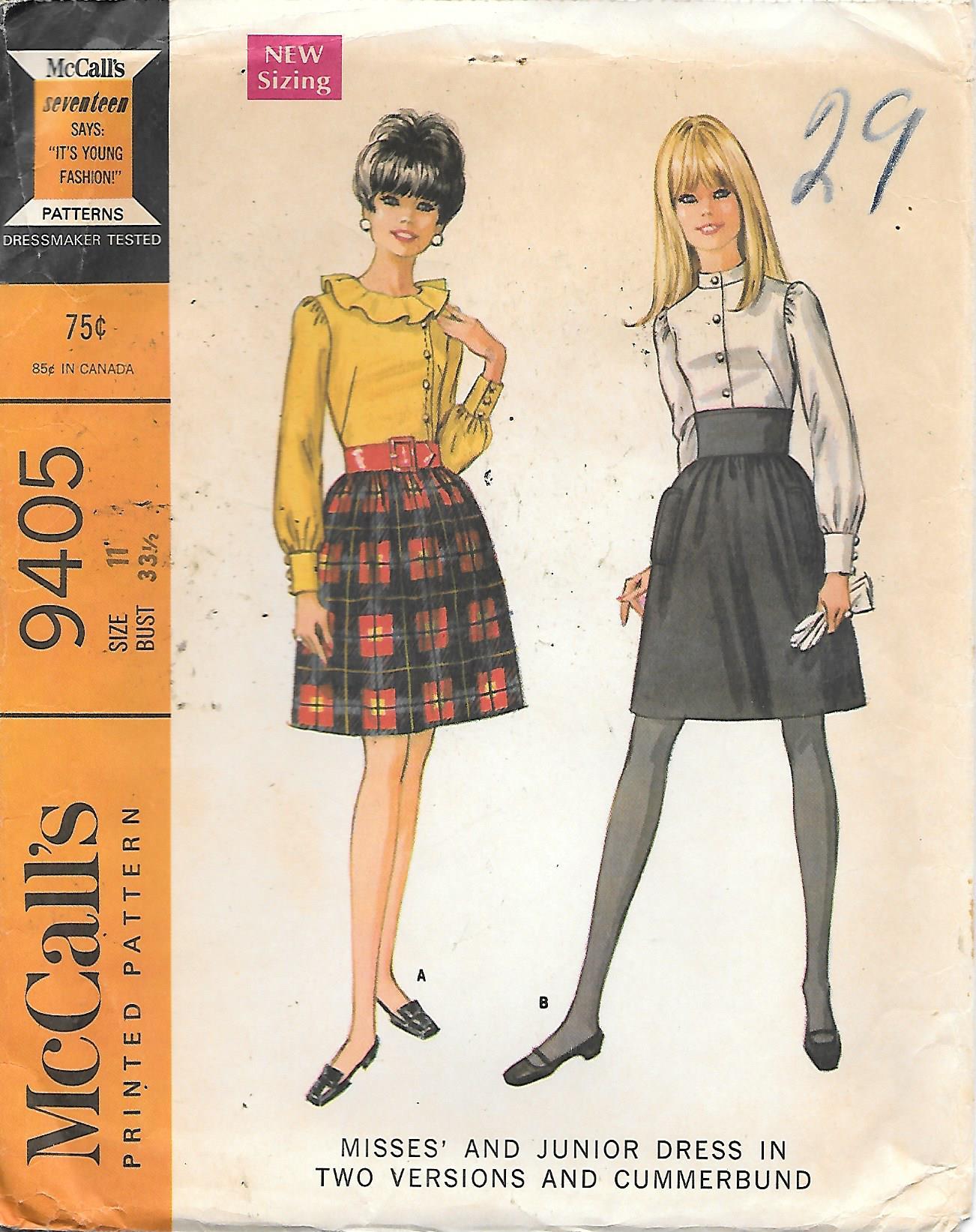McCall's 9405 A