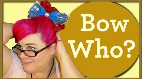 Doctor Who Tardis Bow Tie Hair Bow-So Sew Vintage