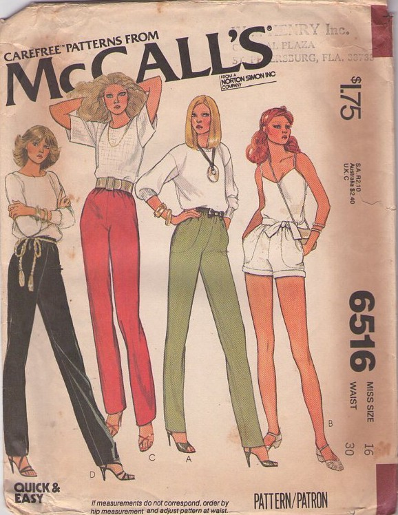McCall's 6516 A