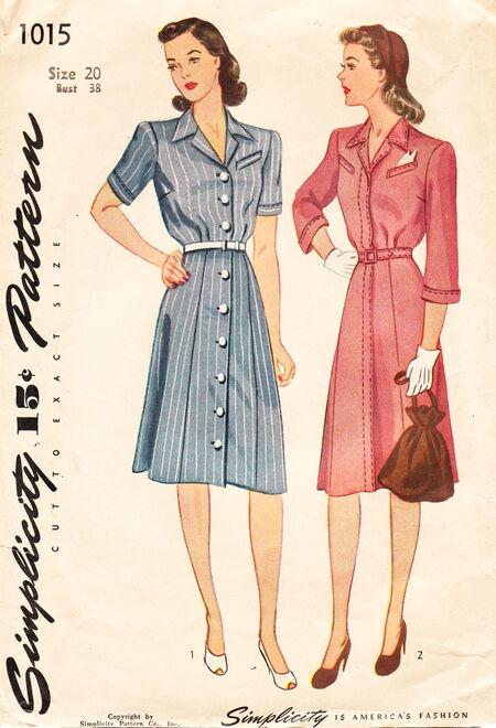 Simplicity 1015. Circa 1940's.