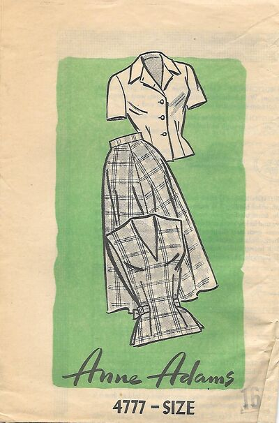 @1940s Misses Skirt,Blouse and Vest