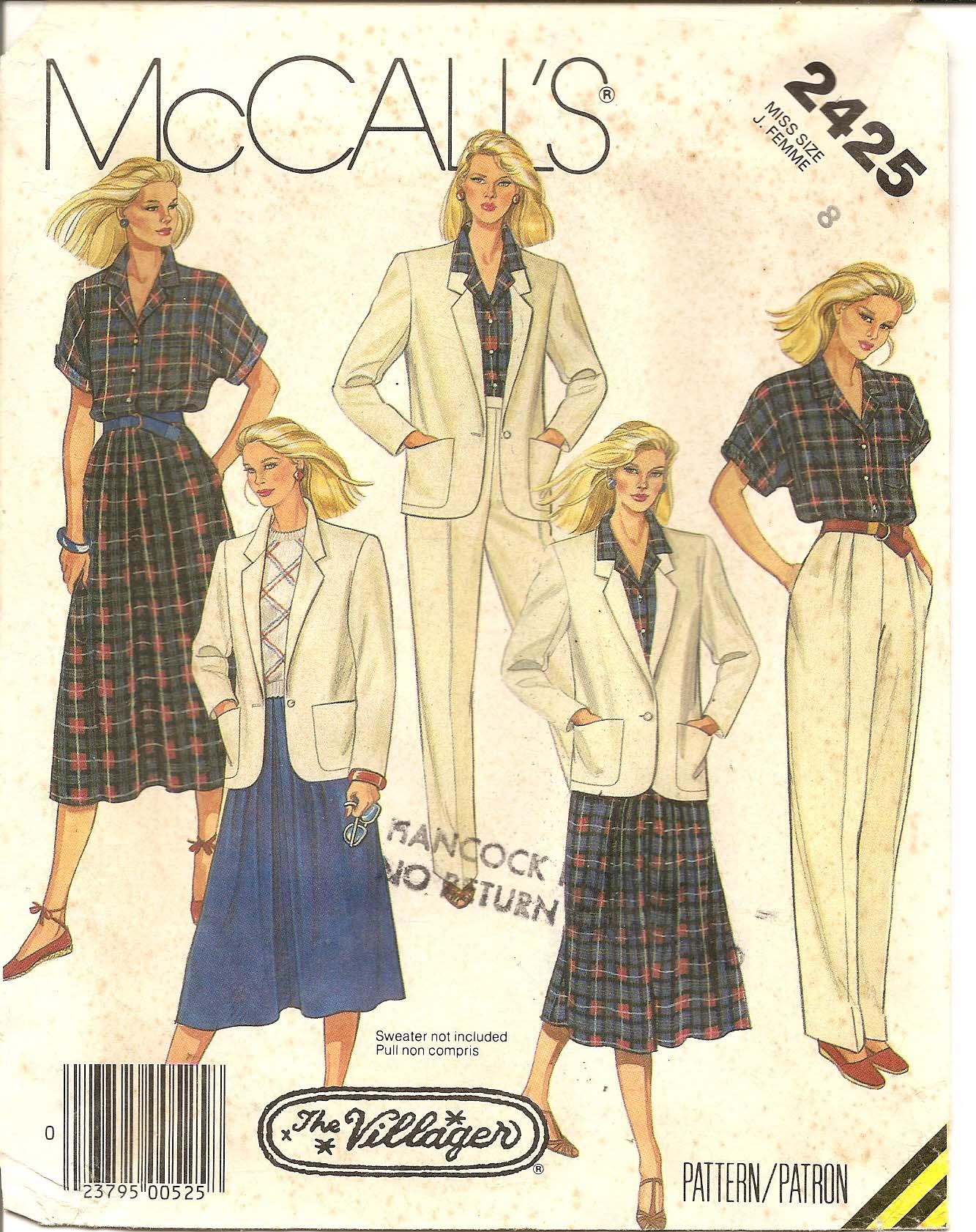 McCall's 2425 A
