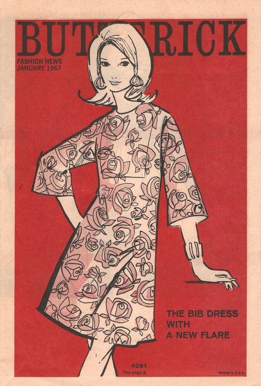 Butterick Fashion News January 1967