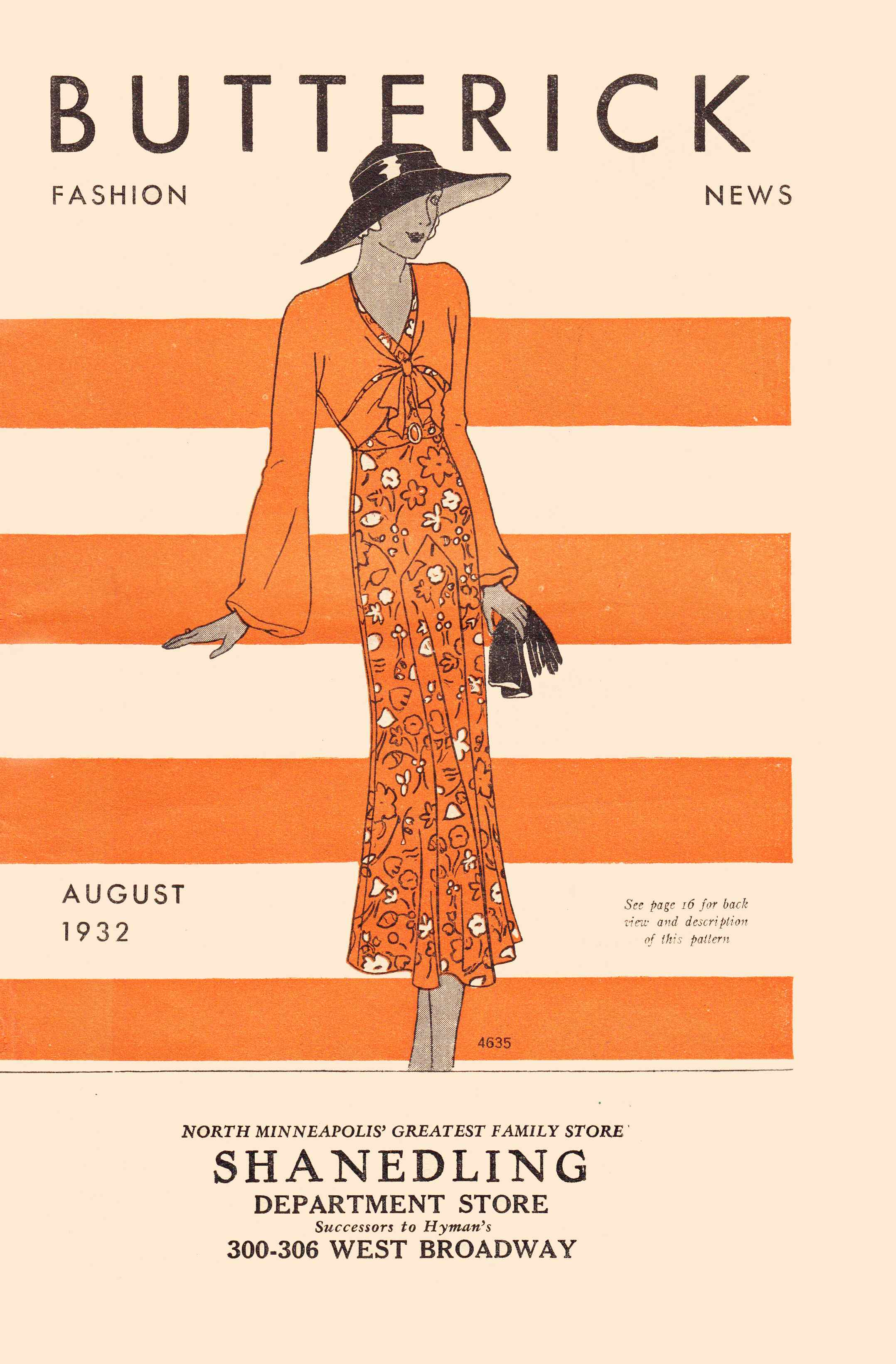 Butterick Fashion News August 1932
