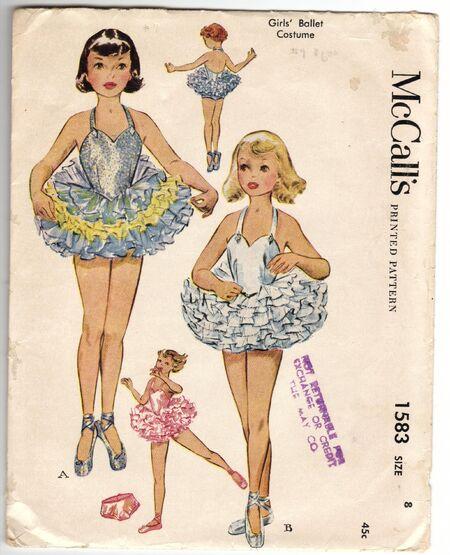 Girl's Ballet Costume ©1950