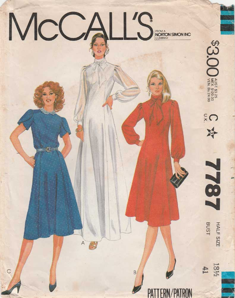 McCall's 7787 A