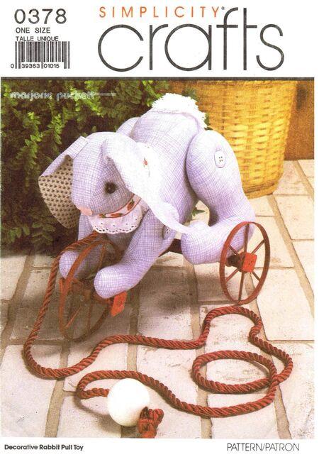 Deorative Rabbit Pull Toy