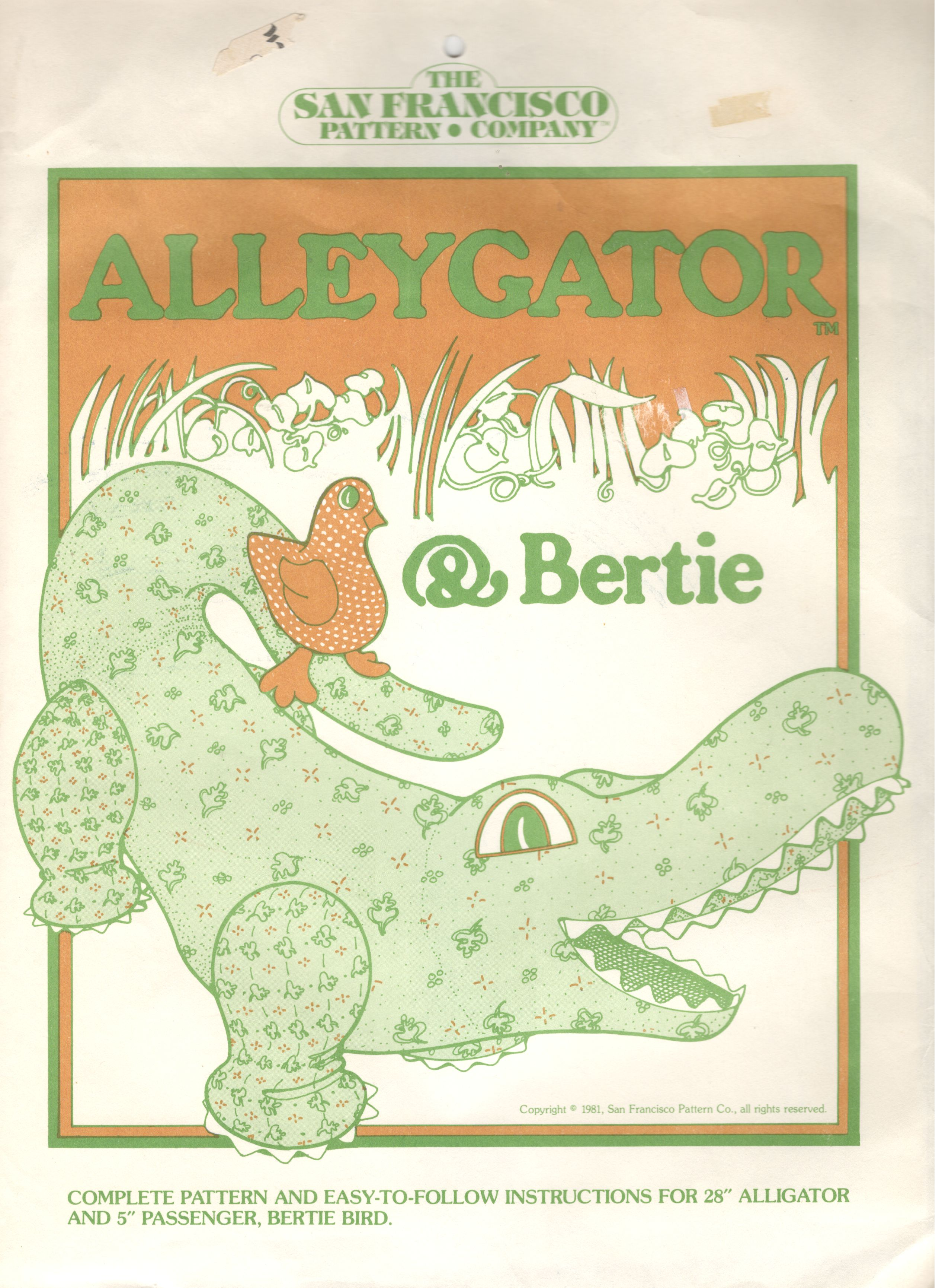 The San Francisco Pattern Company Alleygator & Bertie