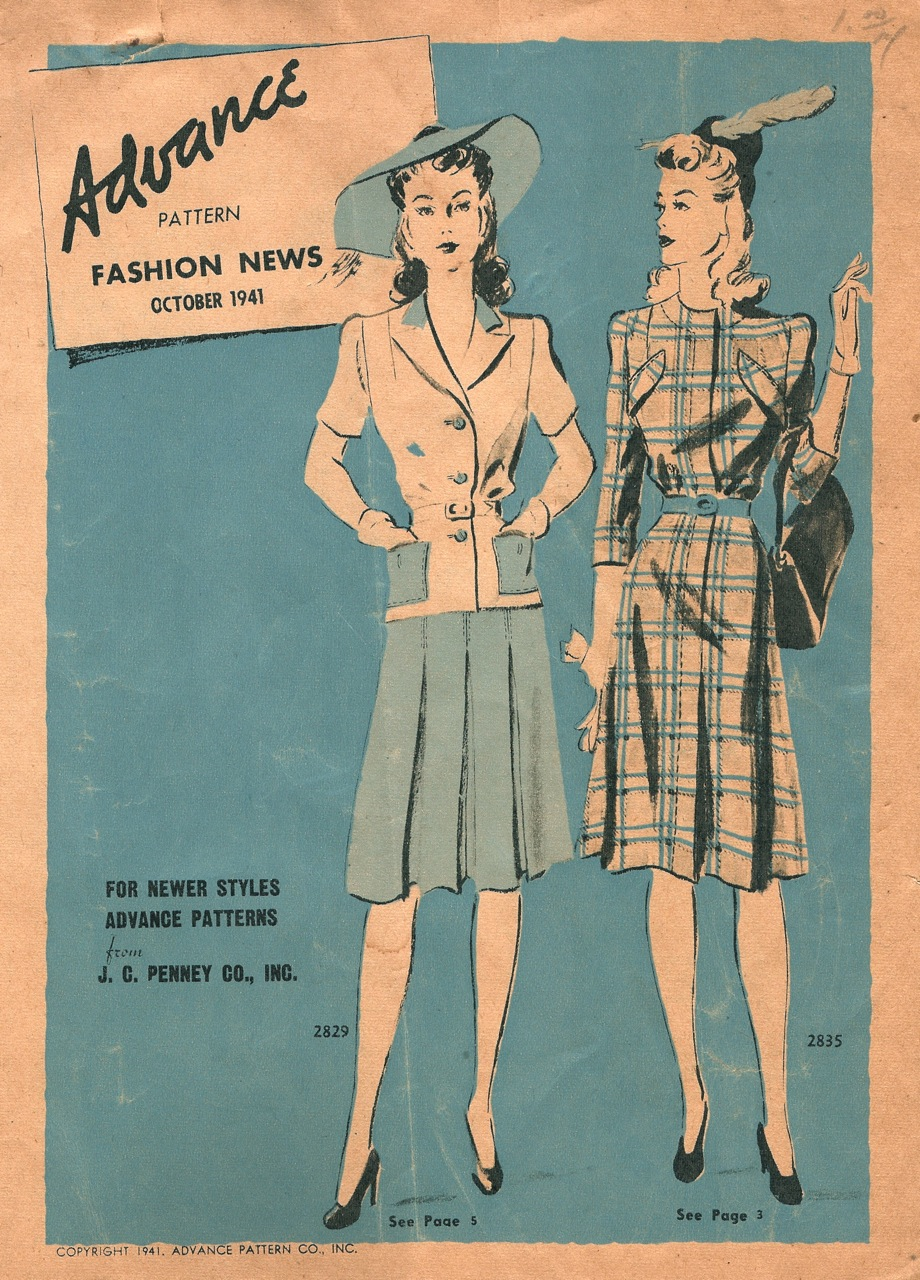 Advance Fashion News October 1941
