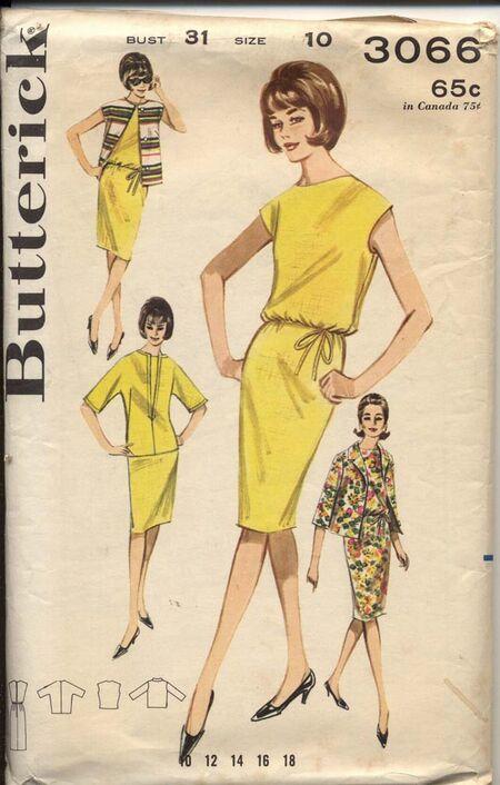 Butterick 3066 A Misses' Bonus Basic Dress