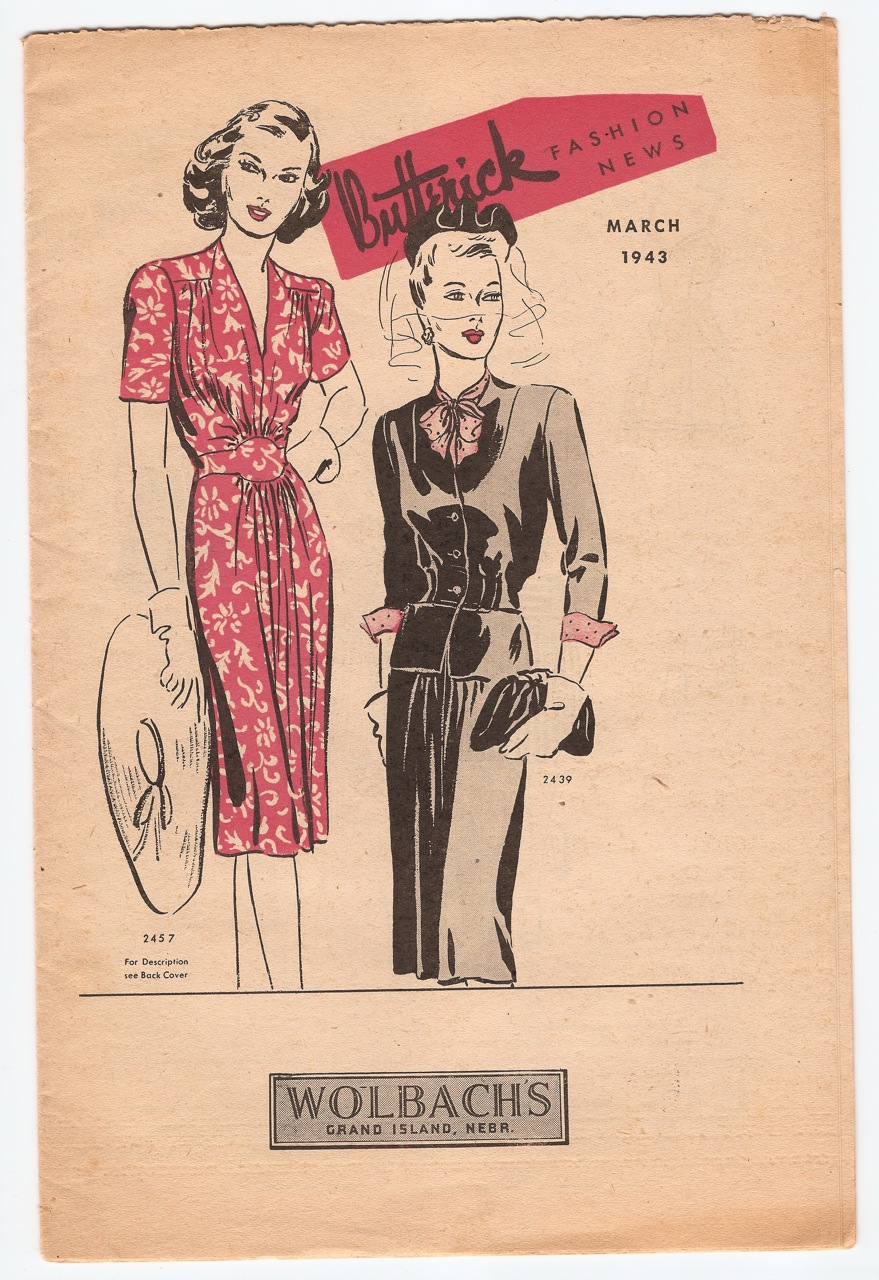Butterick Fashion News March 1943