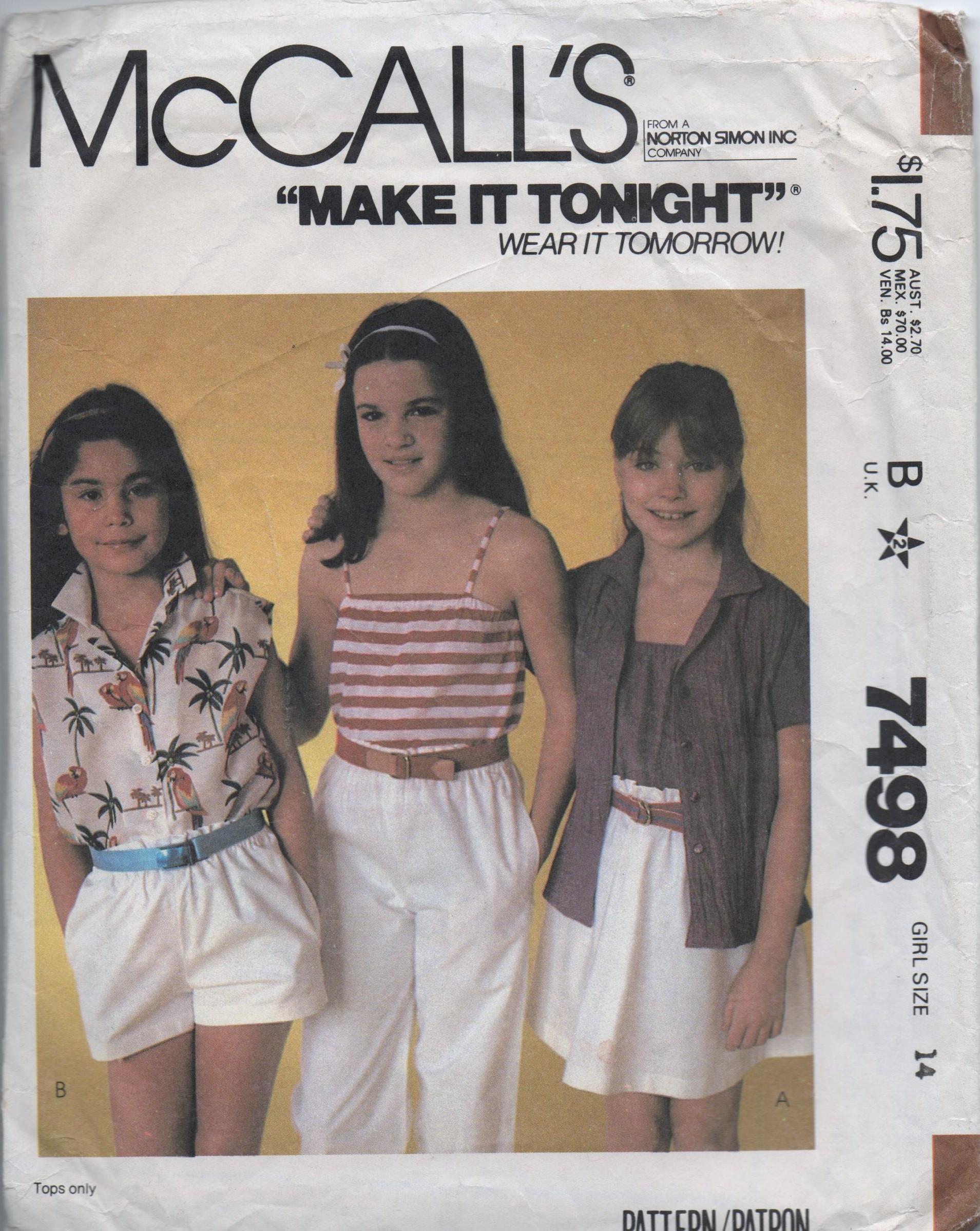McCall's 7498 A