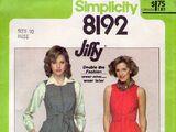 Simplicity 8192 A