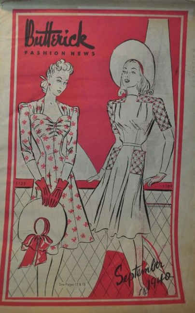 Butterick Fashion News September 1940