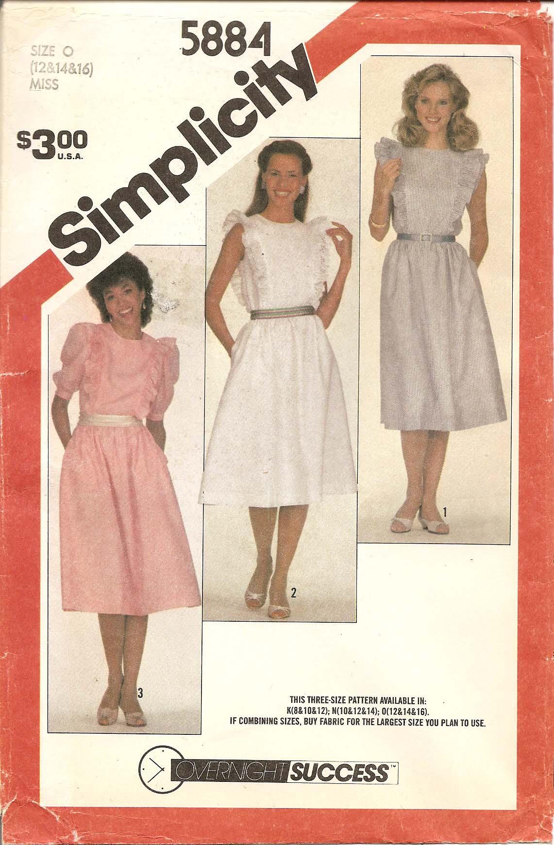 Simplicity 5884 A