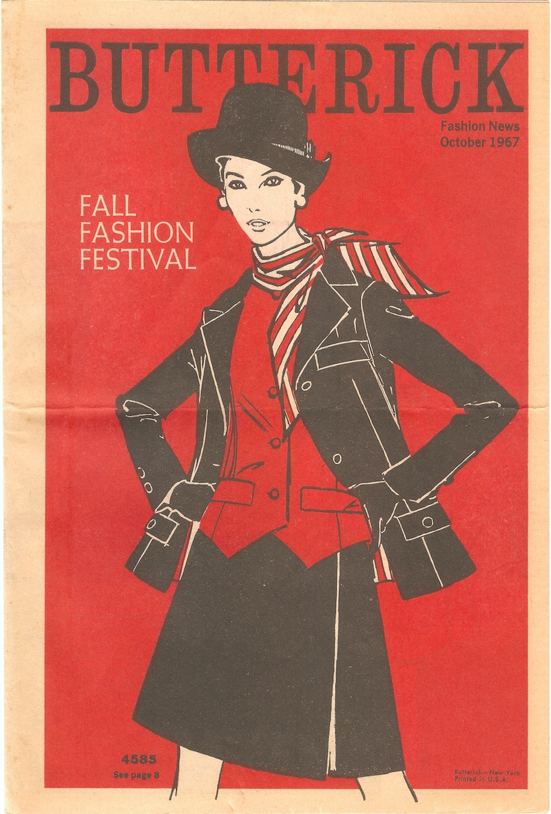 Butterick Fashion News October 1967