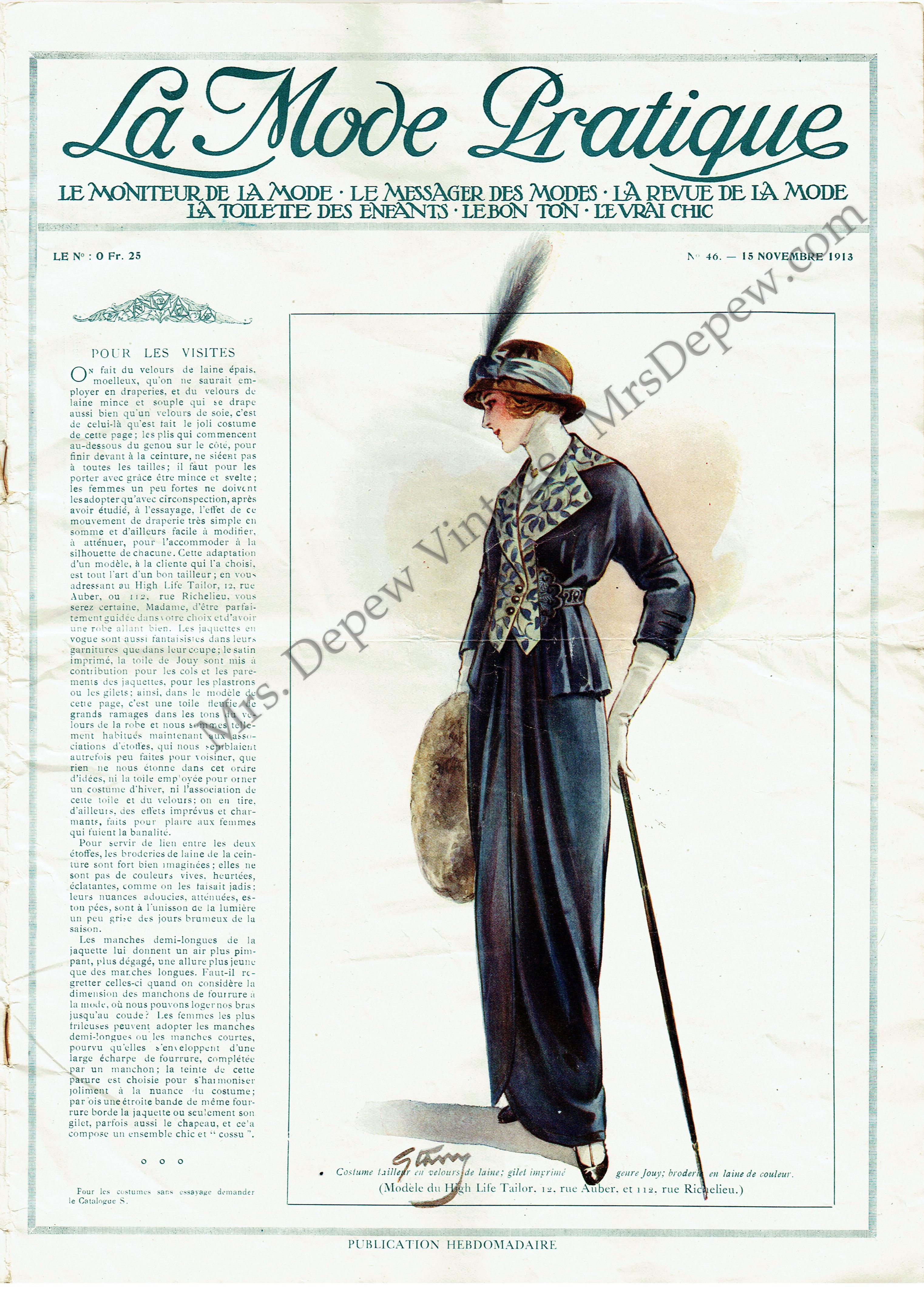La Mode Pratique No. 46 15 Novembre 1913