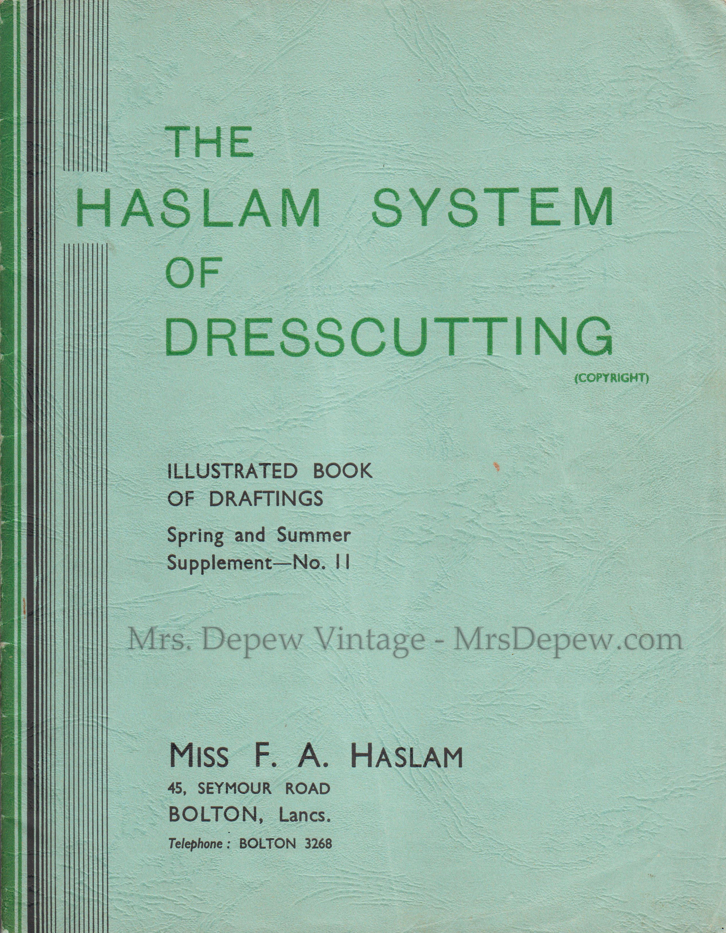 Haslam System of Dresscutting Spring and Summer Supplement No. 11