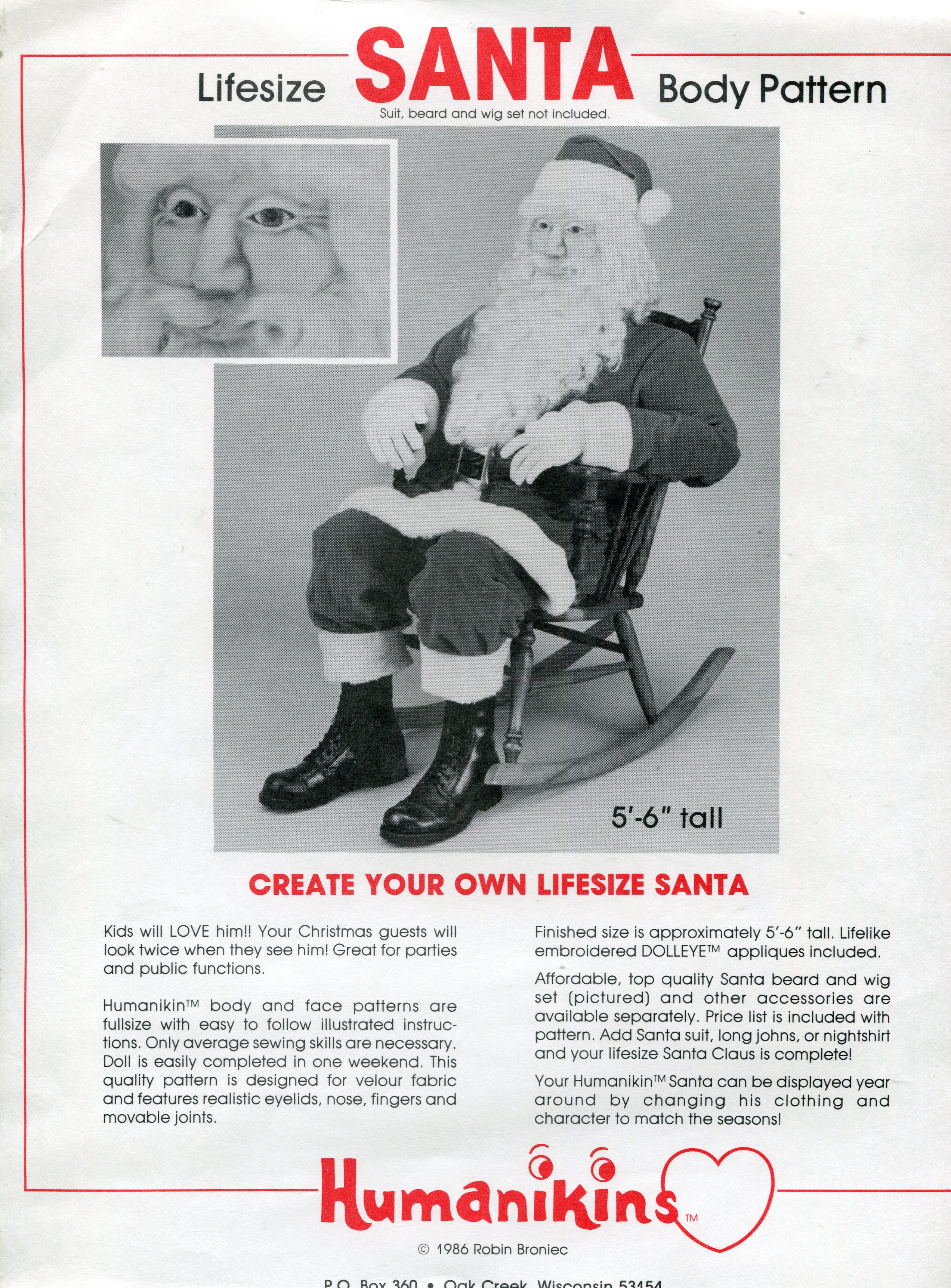 Humanikins Santa Body