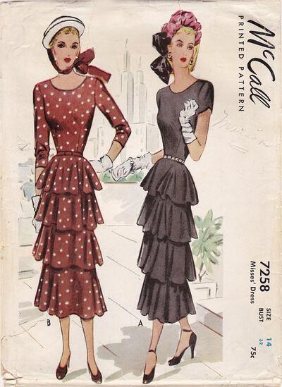 McCall 7258 Dress pattern