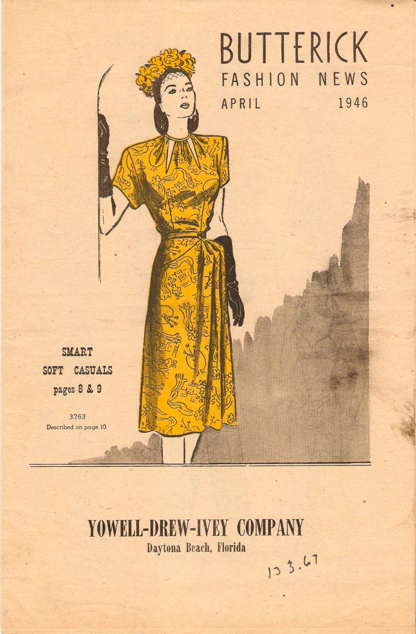 Butterick Fashion News April 1946